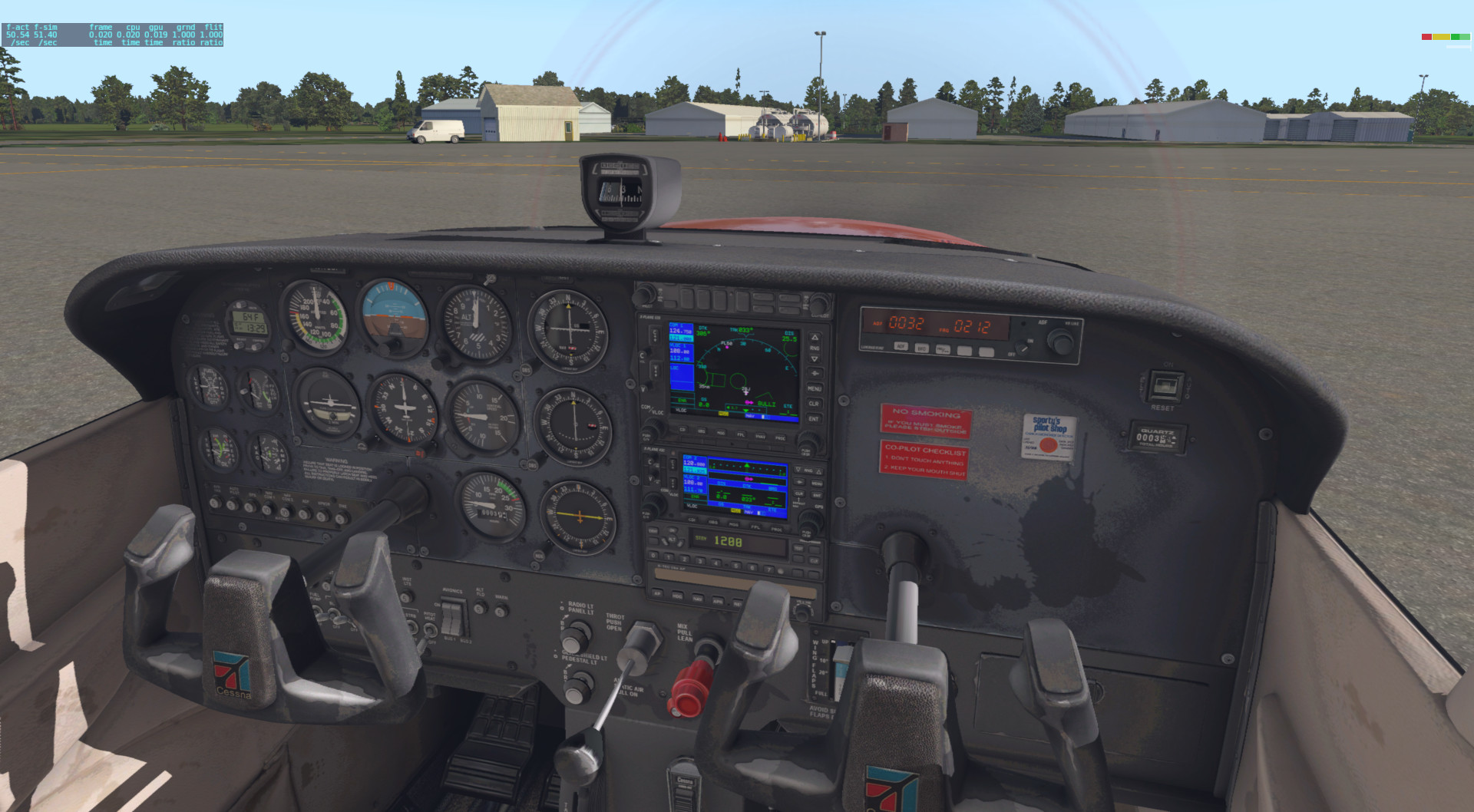 Default 172 Worn interior zip - Aircraft Skins - Liveries - X-Plane